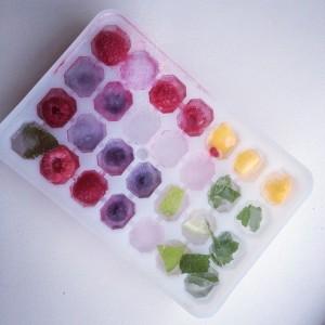 Kleurrijke ijsklontjes